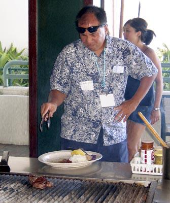 Tony cooks