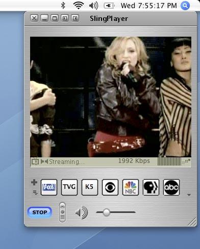 Madonna on SlingBox