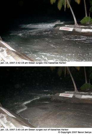 Japan quake surge at Kawaihae Harbor
