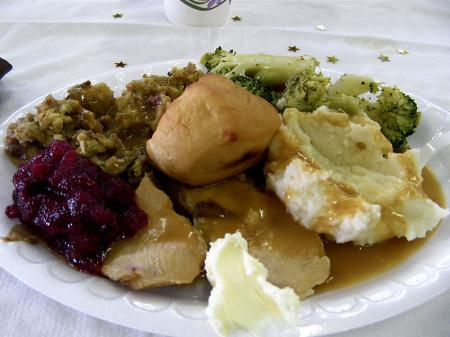 Thanksgiving Day lunch