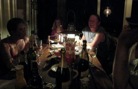 Dining by lantern light