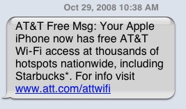 Free AT&T WiFi for iPhones