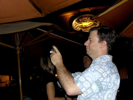 Ken taking a photo while I take a photo of Ken.