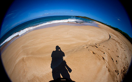 Me, standing on Papohaku Beach on Molokai