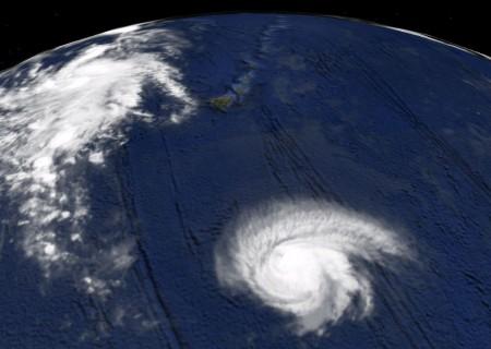 Hurricane Felicia bearing down on the Big Island.