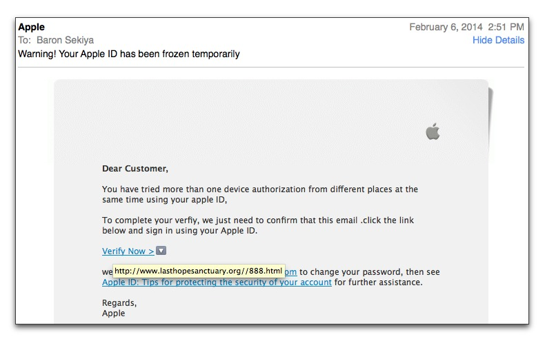 Apple Fake Mail