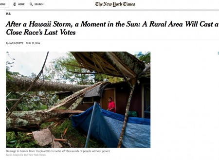 Some photos I shot in Puna yesterday in the New York Times Thursday paper, but on the web early.