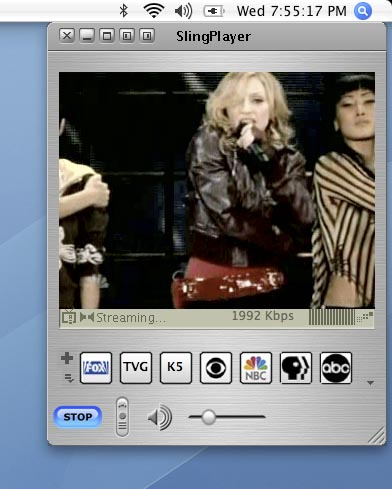 Madonna on SlingBox