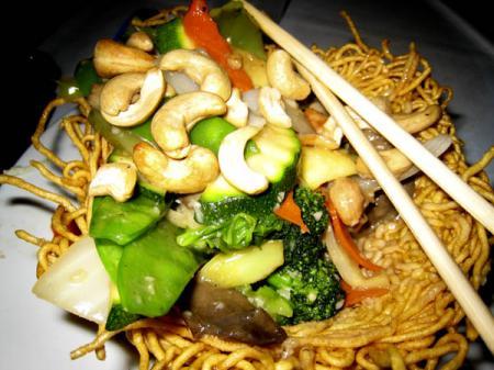 Cashew Noodle Nest