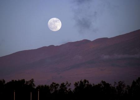 Moonrise over Mauna Kea