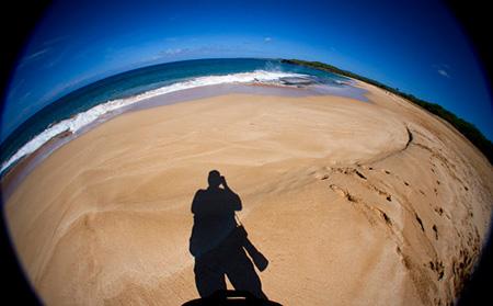 Me, standing on Papohaku Beach on Molokai