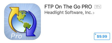 FTP On The Go PRO in the iOS app store