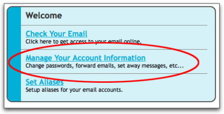 Choose 'Manage Your Account Information' to change your password.